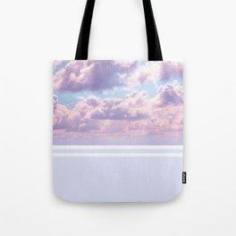 Dreamy Pastel Sky on Violet Tote Bag