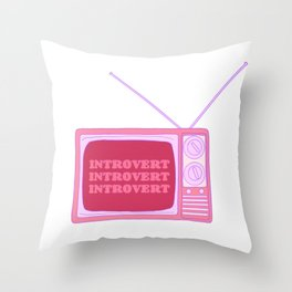 Introverted Broadcast Throw Pillow