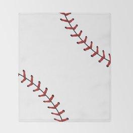Softball Baseball design red laces Throw Blanket