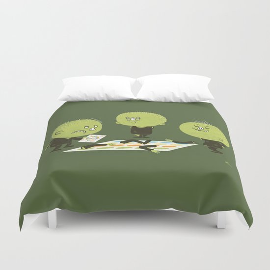 Zombie Twister Duvet Cover