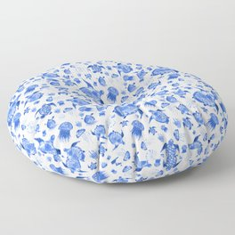 Ocean Life-Blue Palette Floor Pillow