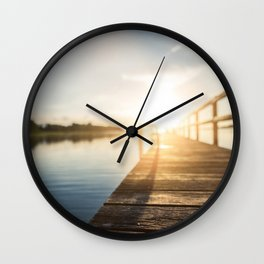 Sitting on the Dock of the Bay Wall Clock
