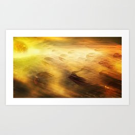 Sun Divers Art Print