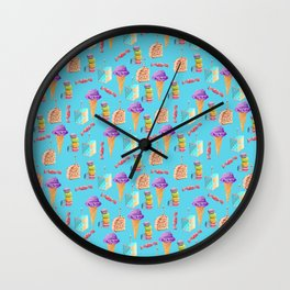 It's Raining Ice Cream Cake Wall Clock