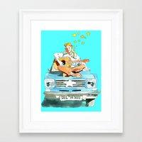 hippie Framed Art Prints featuring Hippie by Ecsentrik