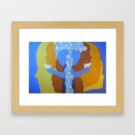 Social networking Framed Art Print