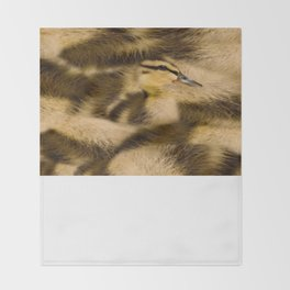Easter Duckling in camouflage Throw Blanket