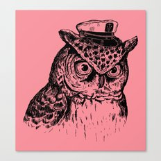 Captain Owl Canvas Print