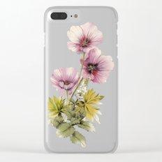 Geranium & Gardenmint Clear iPhone Case