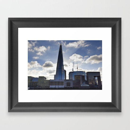 The Shard and South Bank Framed Art Print
