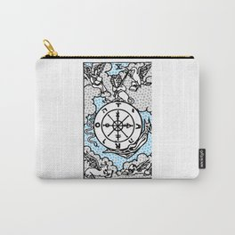 Modern Tarot Design - 10 Wheel of Fortune Carry-All Pouch