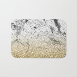 Amalfi golden ombre marble Bath Mat