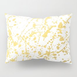 Splat White Gold Pillow Sham