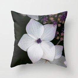 Purple and Blue Hydrangea Throw Pillow