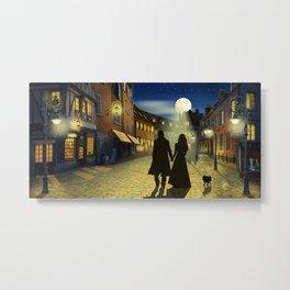 Romantic evening walk Metal Print