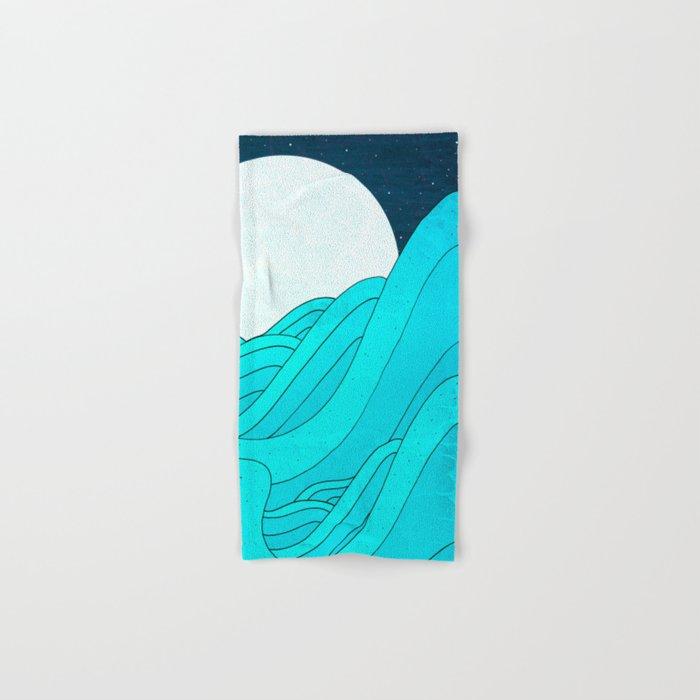 The Moon and the Sea Hand & Bath Towel