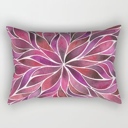 Floral Vines - Ruby Red Rectangular Pillow