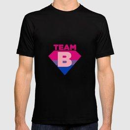 Team B Bisexual Symbol - Bi Sexual Flag Sign Gift Design T-shirt