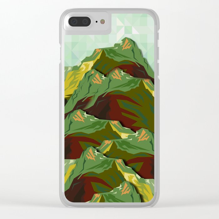 The Great, Great Night Mountain No. 9 Clear iPhone Case