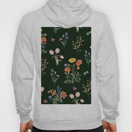 VINTAGE STYLE COLORFUL SUMMER BOUQUETS AND INSECTS Hoody