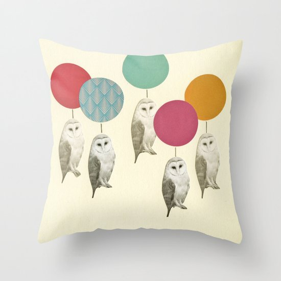 Balloon Landing Throw Pillow