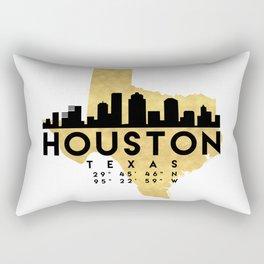 HOUSTON TEXAS SILHOUETTE SKYLINE MAP ART Rectangular Pillow