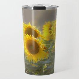 Sunflower Happy Travel Mug