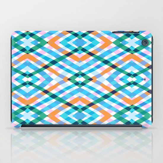 The rustic link based on tenun ikat iPad Case