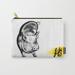 Chinese Ink Pig Carry-All Pouch