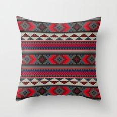 Navajo blanket pattern- red Throw Pillow