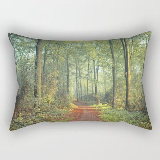 Forest Morning Walk Rectangular Pillow
