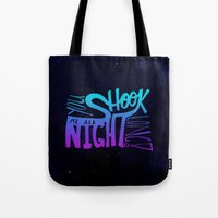 acdc Tote Bags featuring All Night Long by Leah Flores