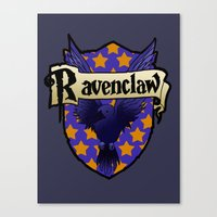 ravenclaw Canvas Prints featuring Ravenclaw Crest by AriesNamarie