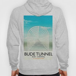 Bude Tunnel - Cornwall travel poster Hoody