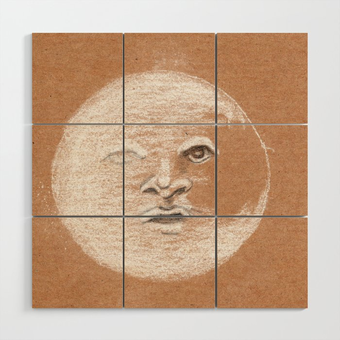 Mister Moon Wood Wall Art