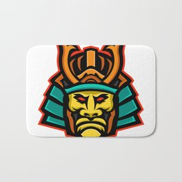 Samurai Warrior Head Mascot Bath Mat