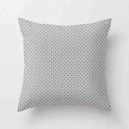 Small Dark Grey on Light Grey Polka Dots Throw Pillow