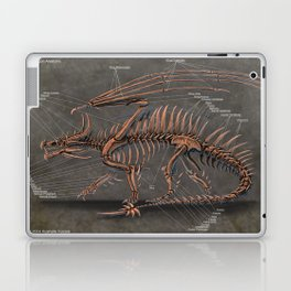 Western Dragon Skeleton Anatomy Laptop & iPad Skin