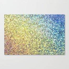 Blue & Gold Glitter Ombre Canvas Print