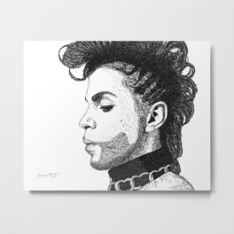 Prince - Word Art Metal Print