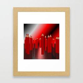 many red pencils Framed Art Print