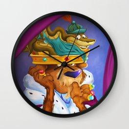 """Prince John & Sir Hiss"" Wall Clock"