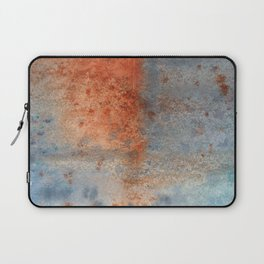 Rusty Blue Abstract watercolour texture Laptop Sleeve