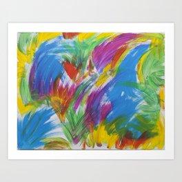 Flamingo Brush Art Print