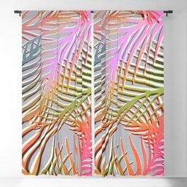 Palm Leaves Pattern - Pink, Gray, Orange Blackout Curtain
