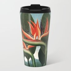 The Queen - The Temple of Flora Botanical Print Metal Travel Mug