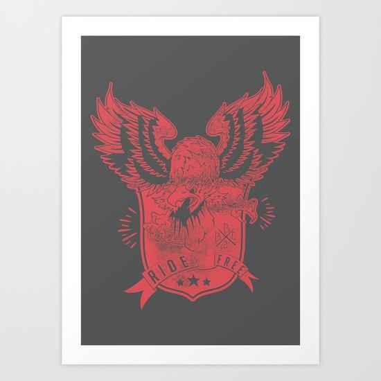 Wings of freedom Art Print