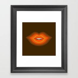 Pop Lips - Golden Framed Art Print