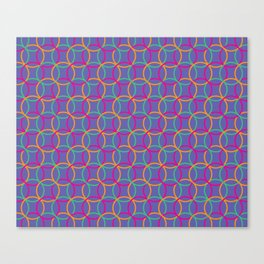 Colorful rings Canvas Print