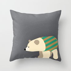 Polar Sweater Weather Throw Pillow